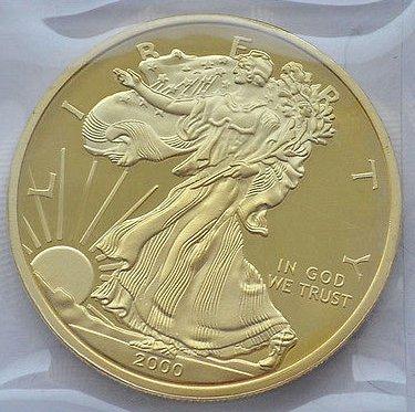 40mm diameter alloy commemorative coins Coin Collection Yellow sun goddess