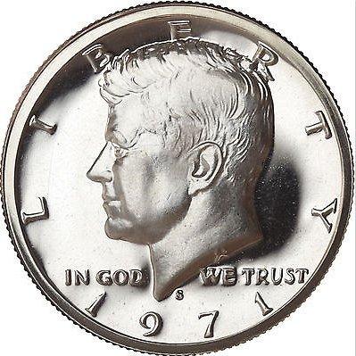 1971 S Kennedy Half Dollar Gem CN-Clad Proof Coin