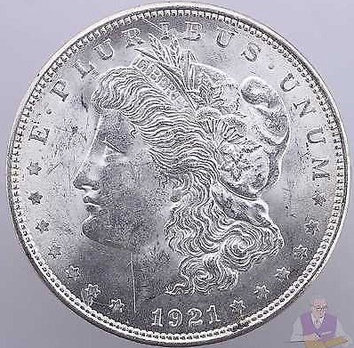 1921 Morgan Silver Dollar AU+ Slider