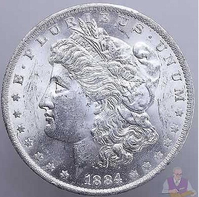 1884 O Morgan Silver Dollar BU US Mint Coin