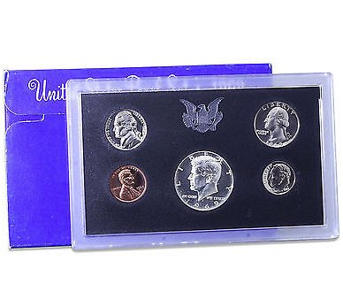 1969 S Proof Set Original Box 40% Silver Kennedy Washington US Mint 5 Coins