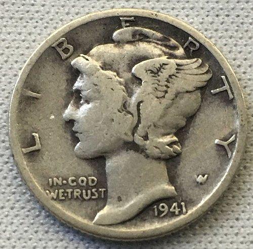 1941 D Mercury Dime