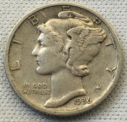 1936 P Mercury Dime