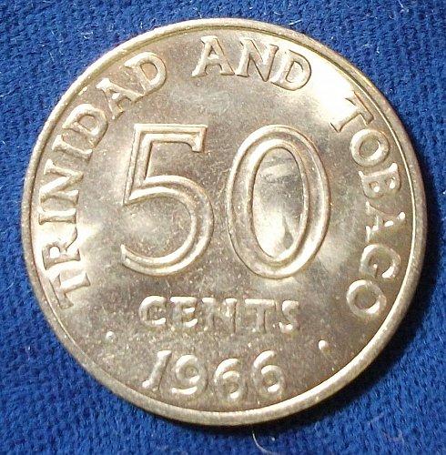 1966 Trinidad & Tobago 50 Cents BU