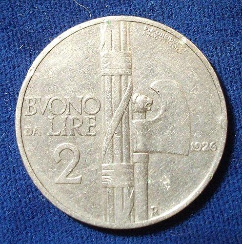 1926 Italy 2 Lire VF