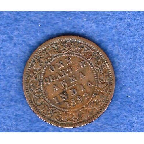 1892 british  india 1 anna