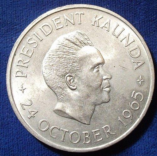 1965 Zambia 5 Shillings UNC