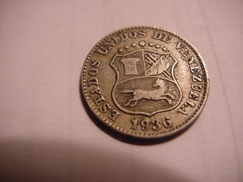 1936 venezuela  5 centimes