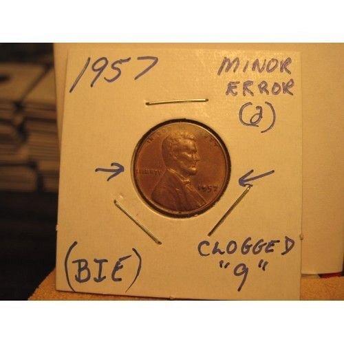 1957 error penny (bie)