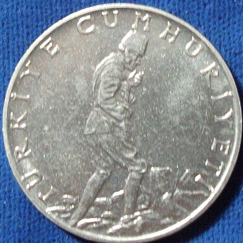 1965 Turkey 2 1/2 Lira UNC