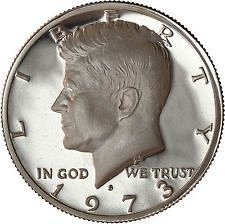 1973 S  PROOF  KENNEDY HALF