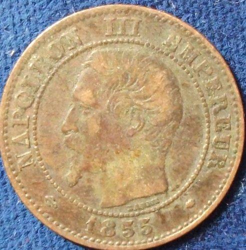 1855 MA (a) France 2 Centimes VF