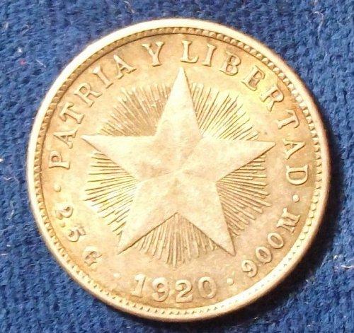 1920 Cuba 10 Centavos XF