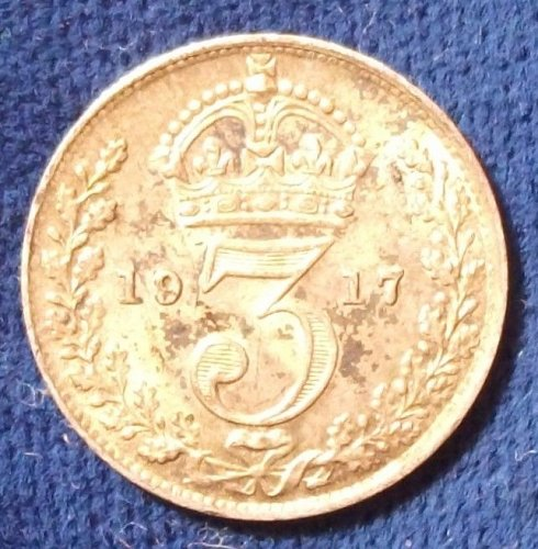1917 Great Britain Threepence UNC