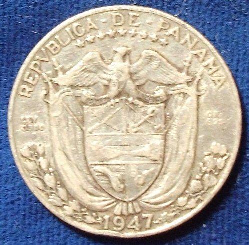 1947 Panama 1/4 Balboa VF