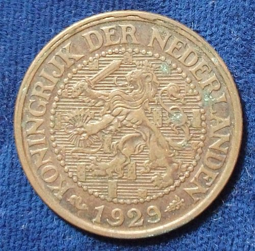 1929 Netherlands 2 1/2 Cents VF