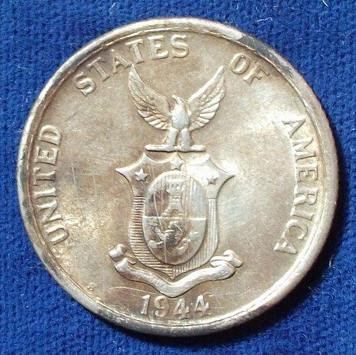 1944S Philippines 50 Centavos AU