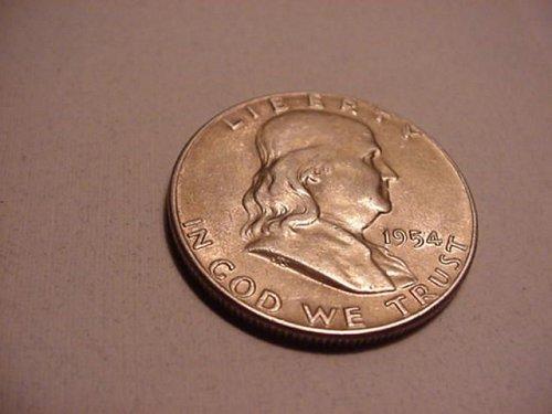 1954 D silver half dollar 90%
