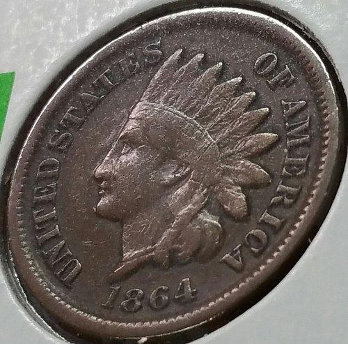 1864 P Indian Head Cent ~ Fine