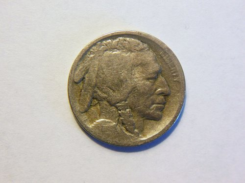 1913-D Type 1 Raised Mound Buffalo Nickel