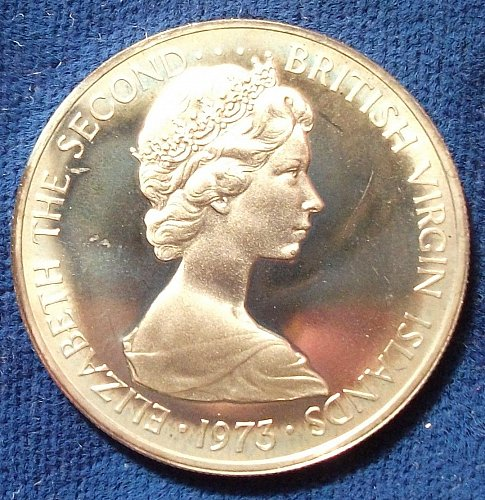 1973 British Virgin Islands 25 Cents Proof