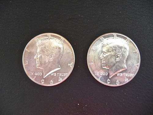 2 - 1964 Kennedy Half dollars P and D