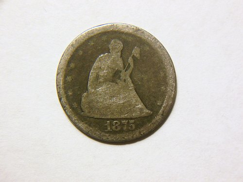 1875-S Silver Seated Liberty Twenty Cent Piece