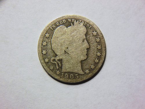 1905-O Silver Barber Quarter