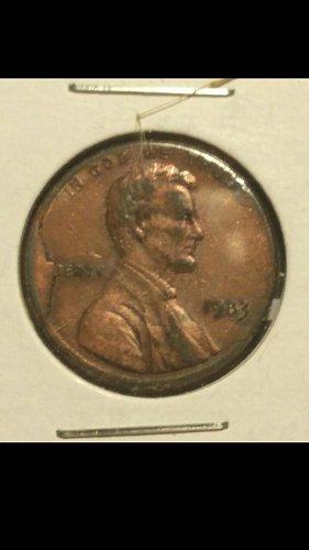 1983 penny  (cud error)