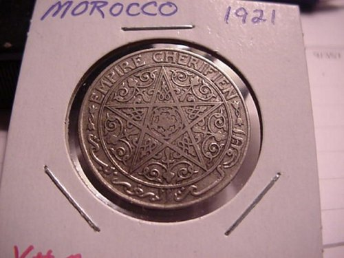 1921 morocco  1 franc