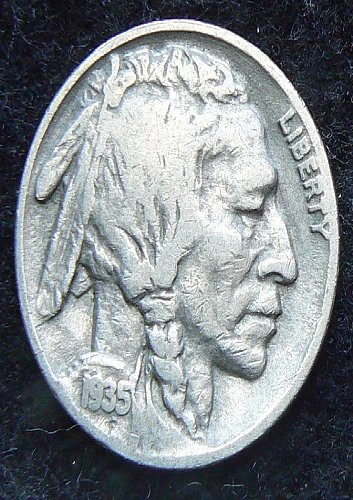 1935 P Buffalo Nickel (VG-8)