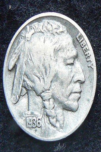 1936 S Buffalo Nickel (F-12)