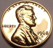 1968 S  PROOF  LINCOLN CENT