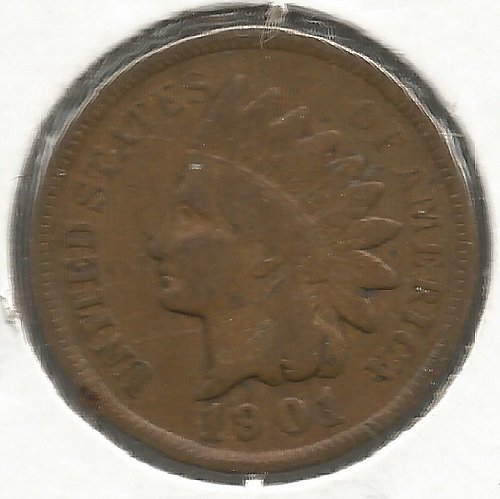 1901 Indian Cent Very Good #1002