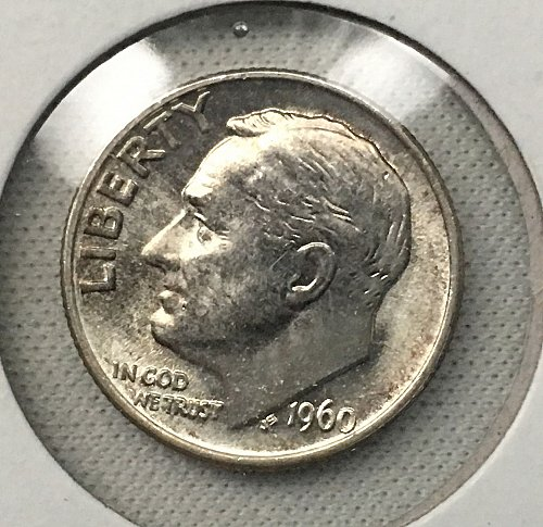 1960 P Roosevelt Dime From Roll BU/MS-65