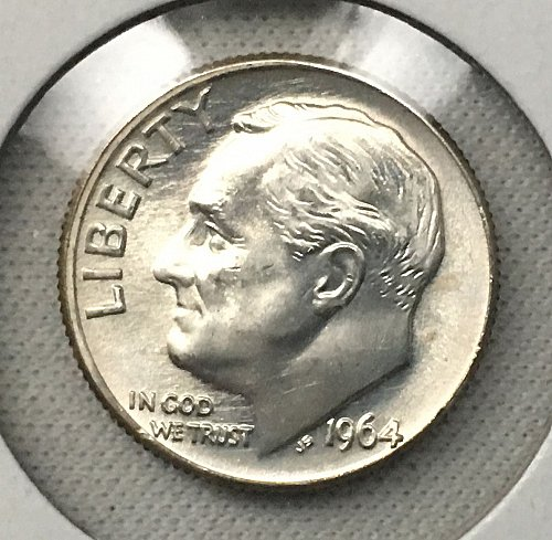 1964 D Roosevelt Dime From Roll BU