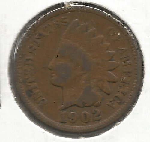 1902 Indian Cent Very Good #1003
