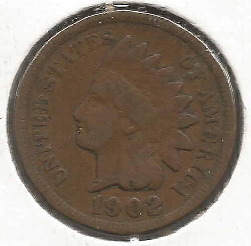 1902 Indian Cent Fine #1004