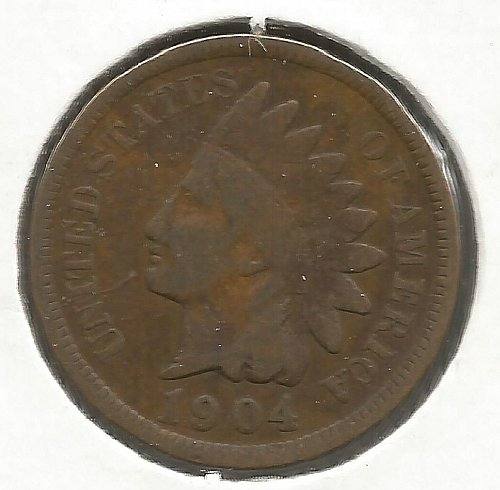 1904 Indian Cent Very Good #1009