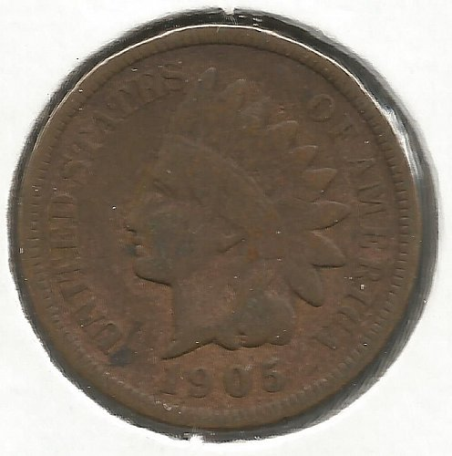1905 Indian Cent Very Good #1010