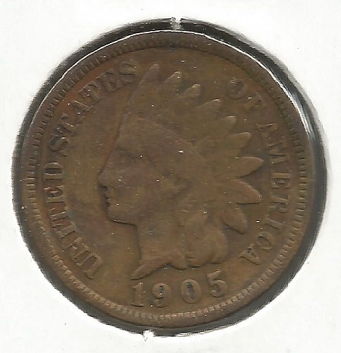 1905 Indian Cent Fine #1011