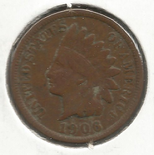1906 Indian Cent Very Good #1012