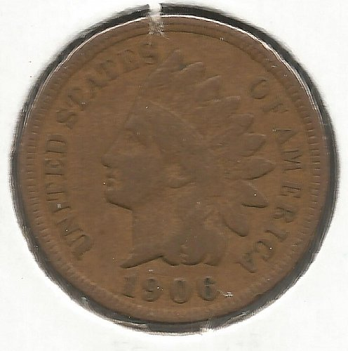 1906 Indian Cent Fine #1013