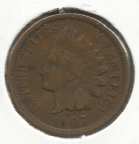 1907 Indian Cent Very Good #1014