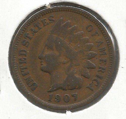 1907 Indian Cent Fine #1015