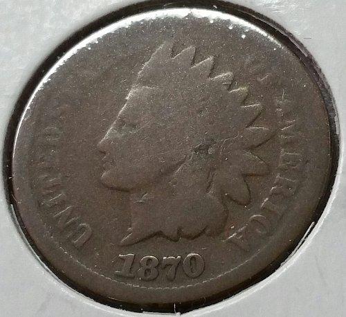 1870 Indian Head Cent ~ AG+