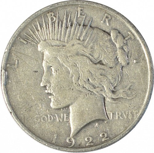 1922 Peace Dollar, Normal Relief, (Item 83)