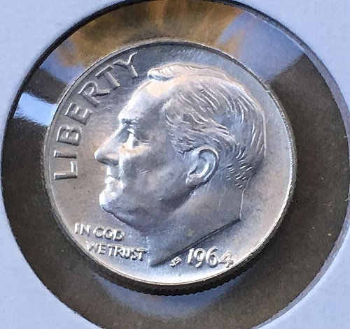 1964 D Roosevelt Dime From Roll BU/MS