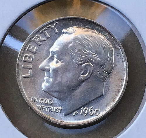 1960 P Roosevelt Dime From Roll BU/MS
