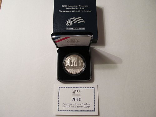 2010 American Veterans Disabled for Life silver dollar